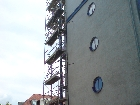 Galerie Johannes-Kärner-Straße 6, Leipzig Gerüst für Säulensanierung _P2.JPG anzeigen.